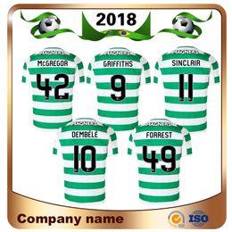 Wholesale men s short sleeve - 18 19 Home Soccer Jersey Away Short sleeve soccer jersey Celtic Griffiths dembele Sinclair Rogic McGregor Roberts Forrest Football shirt uni