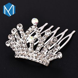 M Mism Novelty Shiny Crown Hair Clip Girl Hair Accessories Grid Yarn Tiara Bow-knot Hairpins Children Headwear Lovely Hairgrip Fixing Prices According To Quality Of Products Girl's Accessories Apparel Accessories