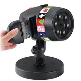 Holofotes de natal ao ar livre on-line-8022 ao ar livre à prova d 'água holofote jardim de natal luzes de projeção do dia das bruxas cartão de animação de natal 3d12 padrão de projeção de luz
