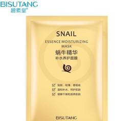 2019 einfügen maske Bisutang Snail Mask Feuchtigkeitsspendende Gesichtsmaske Ölkontrolle Schrumpfen Poren Gesichtsmasken Snail Dope Mask Paste Hautpflege günstig einfügen maske
