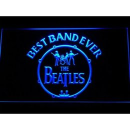 Wholesale Neon Lights Logo - 7 Colors The Beatles Logo in Bass LED Neon Sign Light Football USA Sports Team Custom Neon Signs led Design Your Own Bar Signs Drop Ship