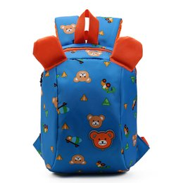 Wholesale Backpacks For Toddler Girls - Winmax 2017 Anti Lost School Bags for Kids Backpack Aminals Kindergarten School Bags 1-3 Years Boys Girls Bear Toddler Backpacks