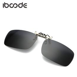 092c61600f8e0 iboode clipe quadrado óculos polarizados homens motorista de condução curta visão  óculos de sol lente miopia night vision pesca anti-uv à venda night sight