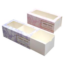 Canada Boîte de gâteau faite main rose / bleue avec des biscuits de biscuit de fenêtre de PVC faisant cuire des boîtes d'emballage cheap pink cookie boxes Offre