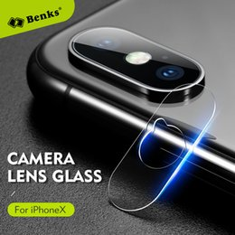 Wholesale Glasses Mold - Benks Lens Glass For iPhone X Camera Glass Protective Soft Camera Lens Protector Glass Use real phone to open mold For iPhoneX