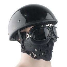 2019 lumières vintage de moto LDMET cascos para moto casque demi visage harley casco moto casque moto vintage pilote été lumière rétro allemand lumières vintage de moto pas cher