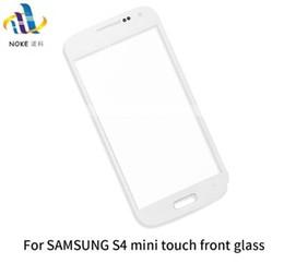 Переднее стекло для Samsung Galaxy S4 I9500 / I9505, S4 MINI I9195 / I9190 наружное стекло ЖК-дисплей с сенсорной панелью дигитайзер датчик часть от