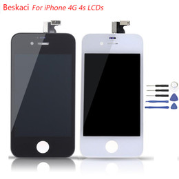 Wholesale mobile lcd touch screen - Grade AAA Quality LCD For iPhone 4 4s LCD Display Touch Screen Digitizer Replacement Mobile Phone Parts