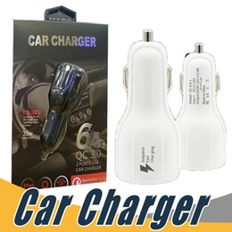 Wholesale Dual Usb Car Chargers - Top Quality QC2.0 fast charge 3.1A Qualcomm Quick Charge car charger Dual USB Fast Charging phone charger + Cable