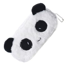 Wholesale Panda Pencil Bag - 10pack (Kids Cartoon Pencil Case Plush Large Pen Bag Cosmetic Makeup Cartoon Storage Bag panda