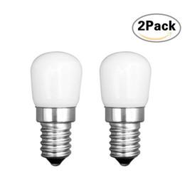 lâmpadas de refrigerador Desconto LEDGLE 2 pcs E14 CONDUZIU a Lâmpada de poupança de Energia Lâmpada CONDUZIU a Lâmpada Bulbo Conjunto Eficiente Lâmpada de 360 graus Ângulo de Feixe de Luz Branca Quente