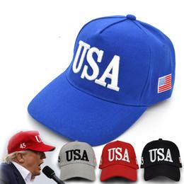 Embroidery 2020 USA Flag Donald Trump Baseball Cap Unisex Men and Women  Make America Great Again Re-election Hat Outdoor sunshade Ball Cap  wholesale made ... d002449edb0