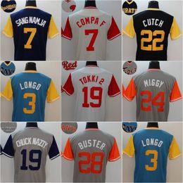 Wholesale F 24 - 2017 Men's Players Weekend jersey 7 SANG NAMJA 7 COMPA F 22 CUTCH 3 LONGO 19 TOKKI 2 24 MIGGY 19 CHUCK NAZTY 28 BUSTER Baseball Jerseys