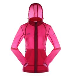 Wholesale Ladies Xxl Clothing - Ultra Light Running Jackets Women Skin Clothing Sunscreen Breathable Waterproof Outdoor Raincoat New Lady Fitness Sport Coat