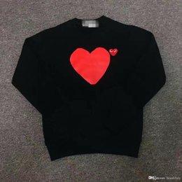 Wholesale Velvet Sweater Dress - COMMEA DES THE GARCONSS CDG 17 Peach Long Sleeved Sweater Cotton Velvet Collar Models The Set of Big Red Couples Dress high replica