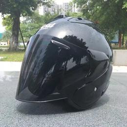 nuova crema solare Sconti 2017New ARAI New casco moto da corsa casco cross country metà uomini e donne caschi protezione solare nero