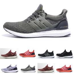 hot sale online 7e562 a1d17 ... mayor 2018 adidas Ultra Boost 3.0 zapatos para caminar 4.0 triple  blanco negro gris Hombres Mujeres UB 3.0 Azul Oreo zapatos casuales 36-45 envío  gratis