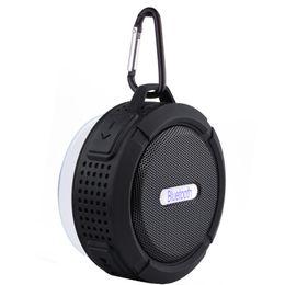 Argentina C6 Altavoz Bluetooth Altavoz Inalámbrico Reproductor de audio inalámbrico Potente Gancho para altavoz y ventosa Reproductor de música estéreo con paquete al por menor Suministro