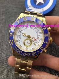 2019 44 relógio Luxo Top Quality 18 K Ouro Amarelo 44mm II 116688 Caixa de AUTOMÁTICO 44 MM Relógio Dos Homens Relógios Dos Homens desconto 44 relógio