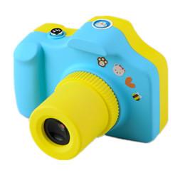 2019 telecamere a zoom lungo Cartone animato da 1,5 pollici Mini fotocamera da 2 MP Shoot LSR Cam per bambini Carta multifunzione per il supporto della fotocamera giocattolo per bambini Micro SD