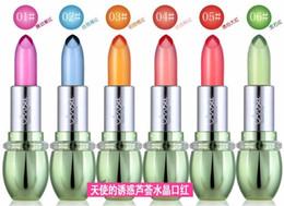 2019 farbiger lippenstift Mode Lip Stick Lot Feuchtigkeitscreme Transparent Baby Rosa Farbe Magie Ändern Farbe Kristall Lippenbalsam Gelee Lippenstift rabatt farbiger lippenstift