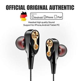 2019 pilote de câble Ecouteurs Dual Driver Stereo Bass Ecouteurs Moniteur HiFi Ecouteurs intra-auriculaires avec micro pour xiaomi PK meizu promotion pilote de câble