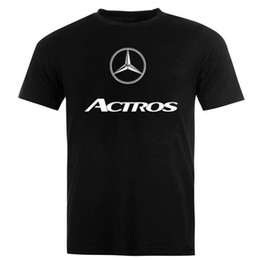 69384c5d32184 mercedes logo Coupons - Mercedes Actros Logo Emblem Auto Moto T-Shirt Short  Sleeve Funny