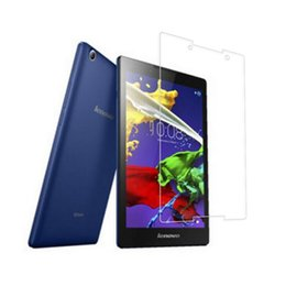 "Wholesale Stickers For Tablets - 50Pcs Tempered Glass Screen Protector Film for Lenovo Tab2 A8 (Tab 2 A8-50 A8-50F A8-50LC) 8"" Tablet + Dust Stickers"