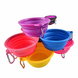 Wholesale Feeding Bowls For Dogs - Dog Bowl Dog Cat Pet Travel Bowl Silicone Collapsible Feeding Water Dish Feeder portable water bowl for pet