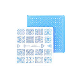 Wholesale Acrylic Wedding Nails - Nail Stamping Plates Nail Art Stamp Template Image Plate Nails DIY Tool Acrylic Stamp Wedding Theme Set 01-04