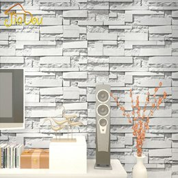 2019 papel de pared de ladrillo de vinilo 3D En Relieve de Piedra Ladrillo de Vinilo de Pared de Papel PVC Impermeable Revestimiento de La Pared Sala de estar Dormitorio Wallpaper Home Decor Papel De Parede rebajas papel de pared de ladrillo de vinilo