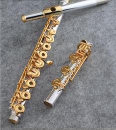 2019 flautas de oro Nueva llave abierta de 17 orificios con llave WELNUO de flauta de alta calidad Cupronickel Gold Paint E con instrumentos de concierto profesionales rebajas flautas de oro