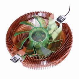 Wholesale Amd Processor Am3 - Universal LED CPU Cooler Cooling Fan Heatsink with Holder for Intel AMD 775 1150 1155 1156 AMD754 959 AM2 AM3