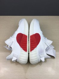 Wholesale happy toe - High quality joint name 350v2, Happy Valentine's day, white sports shoes, leisure sports shoes and basketball shoes 36-45.