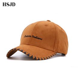 4a5161551fd truck cap 2018 Brand Khaki Suede Baseball Cap Vintage Men Western With  Letter Embroidery Snapback Hat Women s Caps Gorras Bone