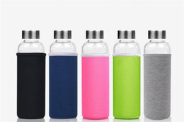 Wholesale Glass Bottled Drinks Wholesale - 550Ml High Temperature Resistant Glass Bpa Free Sport Water Bottle With Tea Filter Infuser Heat Water Jug Protective Bag Tea Jug