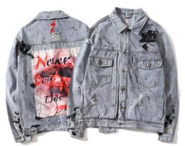8b29642bb4424 ropa de mezclilla de otoño e invierno Europa y los Estados Unidos populares nueva  moda street hip hop hombres camisa pareja chaqueta de manga larga