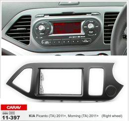 Wholesale Car Stereo Fascia - CARAV 11-397 Car Radio Fascia for KIA Picanto (TA), Morning (TA) 2011+ (Right wheel) Stereo Facia Dash CD Trim Install Kit