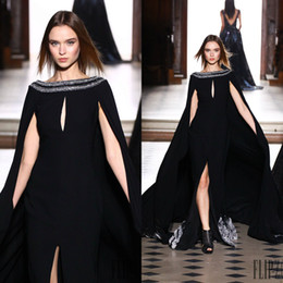 c6a65eb105 tony ward vestidos largos Rebajas Tony Ward Vestidos de fiesta negros  Vestido de noche elegante con