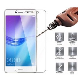 Wholesale phone guards - 9H 2.5D Tempered Glass for Huawei Y6 2017 Screen Protector Phone Protective guard Film for Huawei Y6 2017 Tempered Glass