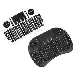 Pc remoto libero online-Mini tastiera wireless Rii i8 2.4G Telecomando inglese tastiera mouse tattile per Smart TV Box Android Tablet PC gratuito DHL.