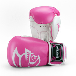 Wholesale Muay Thai Leather Gloves - best sale wholesale leather boxing glove high quality muay thai winning pink boxing gloves for women