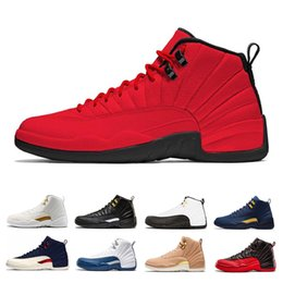 best sneakers 3750c b9454 2019 retro 12s air jordan retro 12 Großhandel 12 12s Bulls Männer  Basketball Schuhe gamma blau