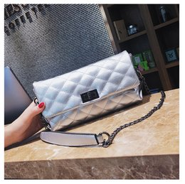 ribbon embroidery hand bags Coupons - 2018 summer new fashion wild first layer cowhide leather slung shoulder one hand evening bag handbag