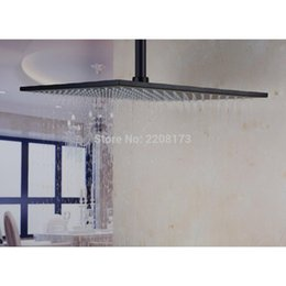 Wholesale 16 Shower Head - Wholesale High Quality Bathroom Faucet Accessories 16 Inch Rainfall Square SUS304 Stainless Steel Shower Head Matte Black Finish