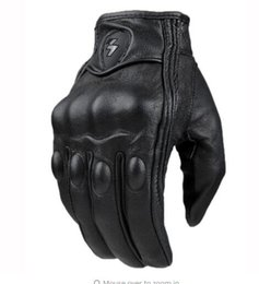 Wholesale Real Motorbikes - Motorcycle Gloves Real Leather Full Finger women&men Luvas Guantes Motorbike Protective Gears Racing Glove S-XXL N