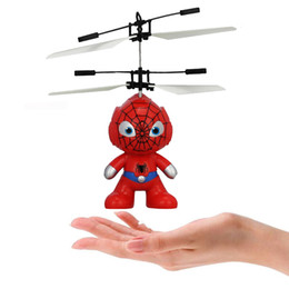 Wholesale Infrared Helicopter - Led toy RC Helicopter Flying Induction LED Noctilucent Ball Quadcopter Drone Sensor Up grade infrared Induction flying Children Toys 1PCS