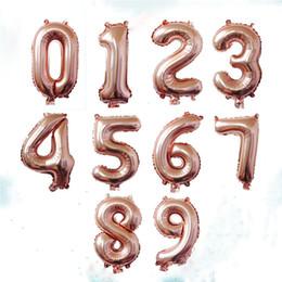 globos de gran número de lámina Rebajas 40 pulgadas Número de oro rosa Globos de aluminio Globos de helio grandes dígitos Decoraciones de la boda Suministros para fiesta de cumpleaños Baby Shower