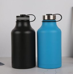 Bolsa termo online-Botella de agua al aire libre de 64 oz con bolsa Vacío de acero inoxidable Deporte saludable Bebida Hervidor termo BPA Free Flask