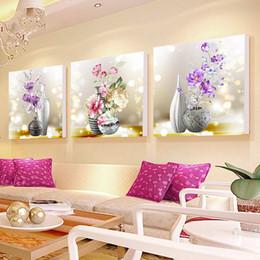 Mostrar pinturas online-Pintura diamante flor restaurante diamante bordado palillo punto de cruz de ladrillo y piedra muestran pinturas modernas simples